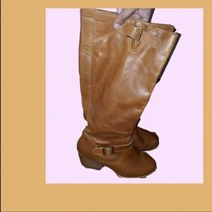 Knee High Leather Anthropologie Boots